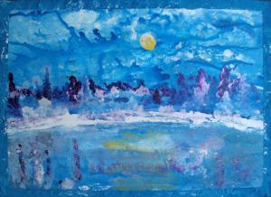 Winterscene Acrylic 86 x 62 cm