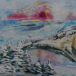 2018-01-06Winter_am_Steinbruch Acrylbild 84 x 62 cm