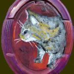 Acrylfarbe auf Plexiglas 17 x 22