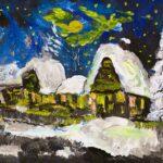 2019-12-07 Drei Häuser im Schnee