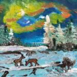 2019-12-12Zwei Rehe auf der Winterwiese