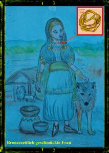 Bronzezeitlich geschmücktes Mädchen